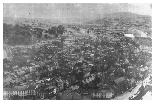 An aerial photo of Newry in the 1950s.