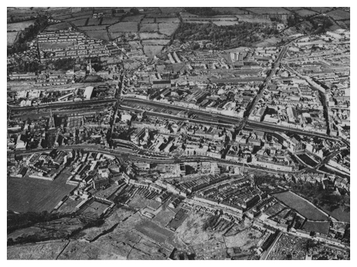 An aerial photo of Newry in the 1960s.