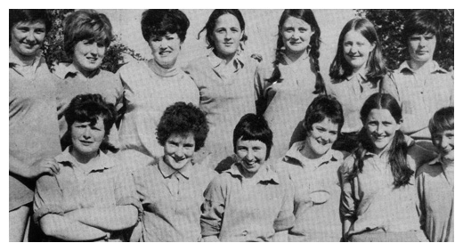 Ballyholland Newry ladies football team in the 1960's.