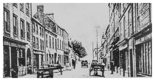 A sketch of Newry's Canal Street in the 'rare aul times'
