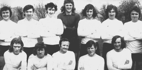 The guys soccer side which played in the Carbane league during the 1970's, including Larry and Oliver boyle.