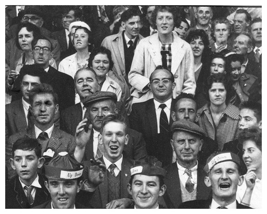 Down supporters in the 1960s.