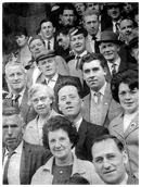Arriving in dublin for the All-Ireland final in 1960 were these Down supporters.