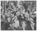 Optimistic Down supporters stage a march past Dublin's GPO en route to Croagh Park for the 1960 All-Ireland Final.