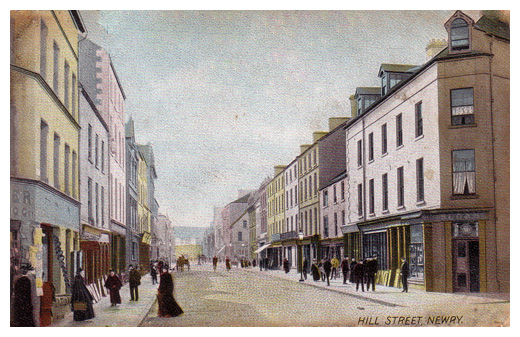 Town centre in Newry late 1800's.