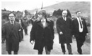 Republican leader Joe Cahill arriving in Edentubber for the Annual Commemoration ceremony in the 1970's.