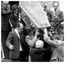 The funeral of Warrenpoint teacher Liam Prince, shot dead by British soldiers by mistake after a bomb explosion in South Armagh.
