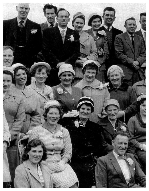A Wedding party at Omeath Park Hotel in the 1960's.