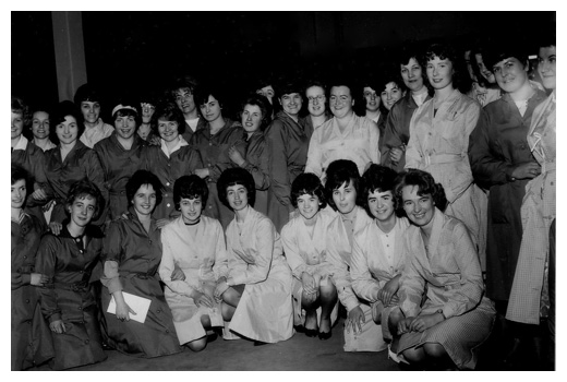 Workers of the former Reeds factory Newry.