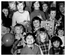 Reeds factory workers at Warrenpoint held this Christmas party for their children in the 1970s.