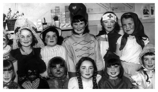 St Clare's Primary School Newry pupils taking part in a fancy dress contest in the 1960's.